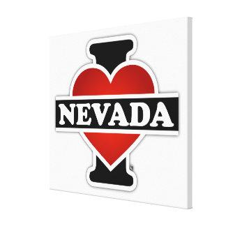 I Heart Nevada Canvas Prints