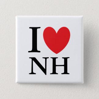 I Heart New Hampshire 2 Inch Square Button