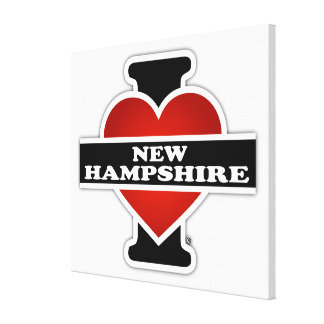 I Heart New Hampshire Gallery Wrap Canvas