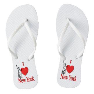 I Heart New York Flip Flops