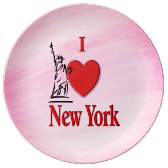 I Heart New York Pink Porcelain Plate