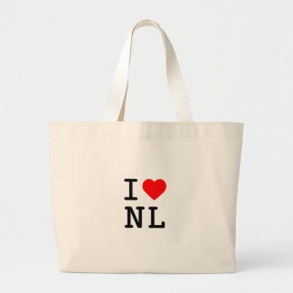 i heart NL Large Tote Bag