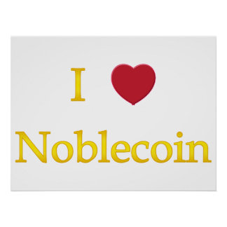 I Heart Noblecoin Posters