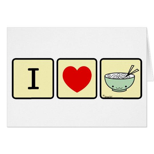 I heart Noodles Card