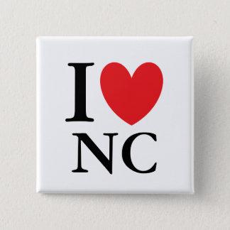 I Heart North Carolina 2 Inch Square Button