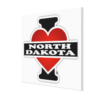 I Heart North Dakota Gallery Wrapped Canvas