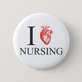I Heart Nursing 2 Inch Round Button