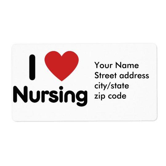 I heart Nursing Shipping Label