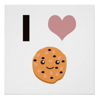 I heart Oatmeal Cookies Perfect Poster
