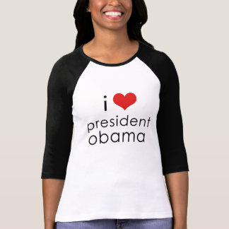i heart obama lower case T-Shirt