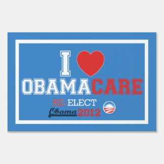 I <Heart> ObamaCare Yard Sign (SMALL size)