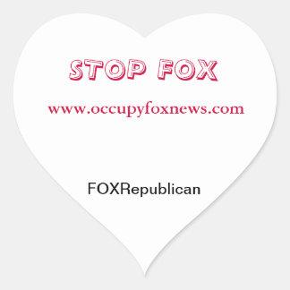 I Heart Occupy Fox News Heart Sticker