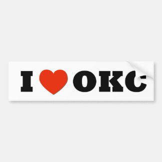 I Heart OKC Bumper Sticker