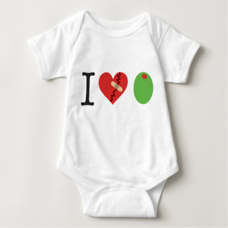 i heart olive JOIN THE FIGHT white) Baby Bodysuit