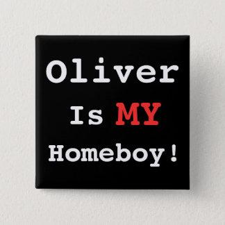 I Heart Oliver! 2 Inch Square Button