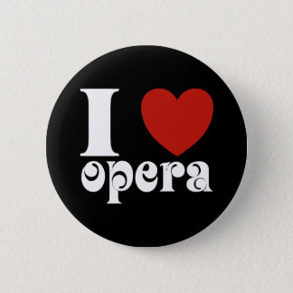 I Heart Opera Lovers Gift 2 Inch Round Button