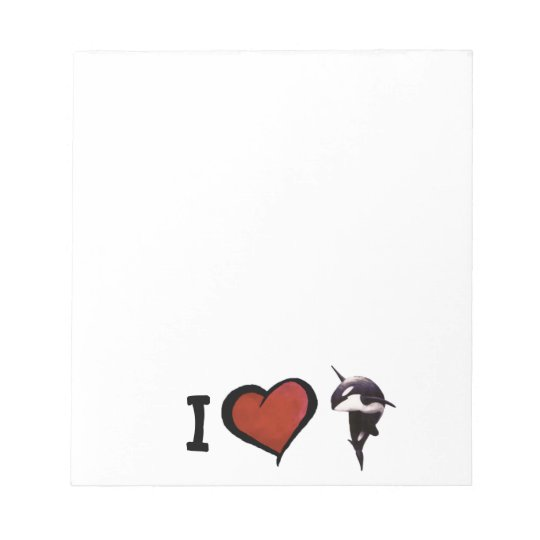 I Heart Orcas Notepad