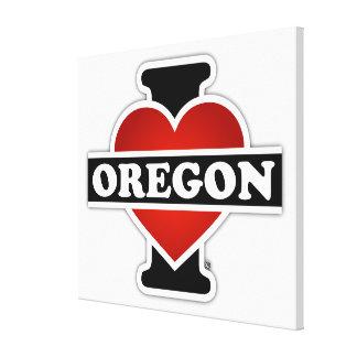I Heart Oregon Canvas Prints