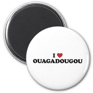 I Heart Ouagadougou Burkina Faso 2 Inch Round Magnet