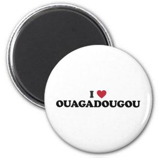 I Heart Ouagadougou Burkina Faso Magnet