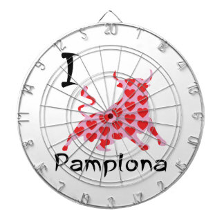 I heart Pamplona Dartboard