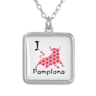 I heart Pamplona Silver Plated Necklace
