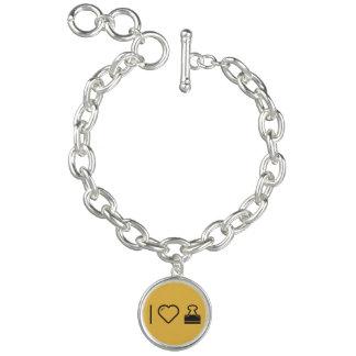 I Heart Paperclip Chains Bracelet
