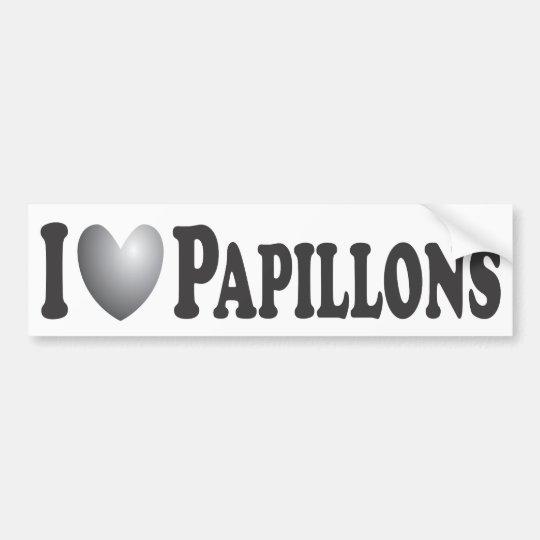 I Heart Papillons - Bumper Sticker