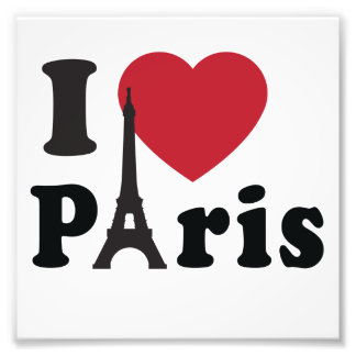 I Heart Paris Photographic Print