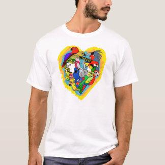 I heart parrots cute cartoon T-Shirt