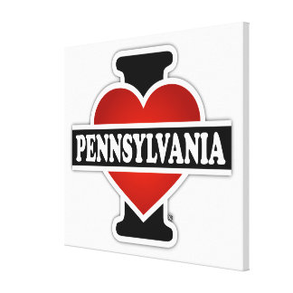 I Heart Pennsylvania Gallery Wrap Canvas