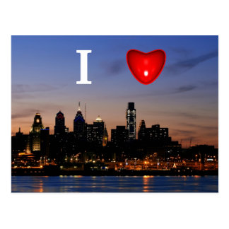 I Heart Philly at Twilight Postcard