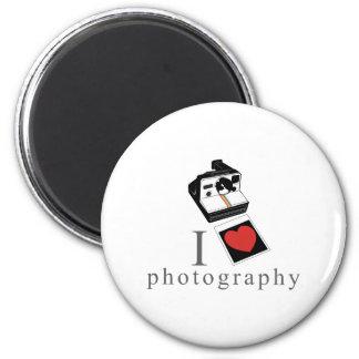 I heart photos 2 inch round magnet