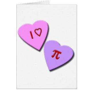 I Heart Pi Candy Hearts Card