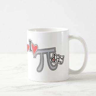 I heart Pi Day Classic White Coffee Mug