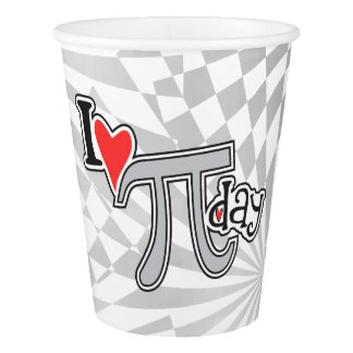 I heart Pi Day © Math themed design Paper Cup