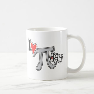 I heart Pi Day Mugs