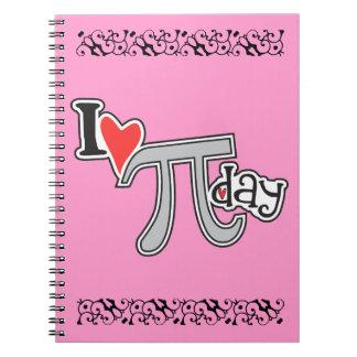 I heart Pi Day Note Book