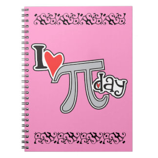 I heart Pi Day Note Book