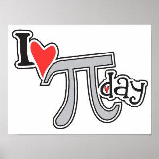 I heart Pi Day Poster