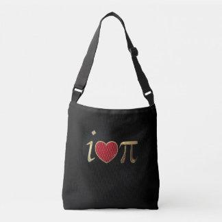 """""""I heart pi,"""" i luv pi Medium Crossbody Bag"""