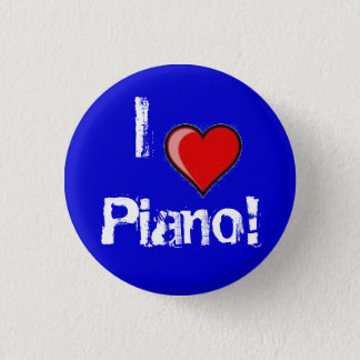 I heart Piano! 1 Inch Round Button