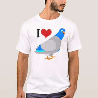 I Heart Pigeons Cute Pigeon T-Shirt