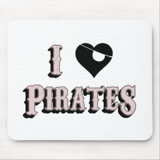 i heart pirates mouse pad