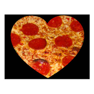 I Heart Pizza Postcard