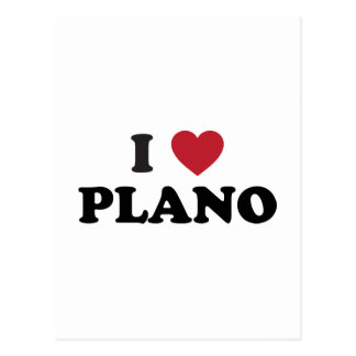 I Heart Plano Texas Postcard