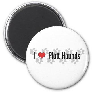 I (heart) Plott Hounds 2 Inch Round Magnet