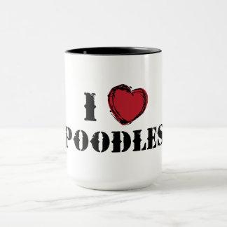 I (heart) Poodles mug