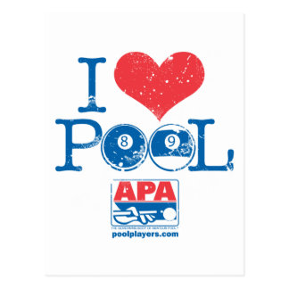 I Heart Pool Postcard
