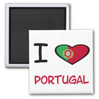 I Heart Portugal Square Magnet